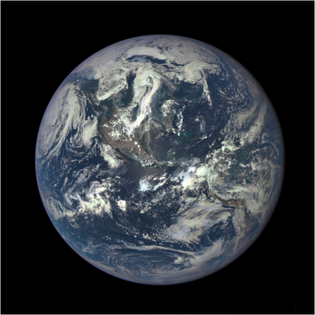 Earth as seen on July 6, from a distance of almost one million miles by a NASA scientific camera on board the Deep Space Climate Observatory spacecraft. CreditNASA