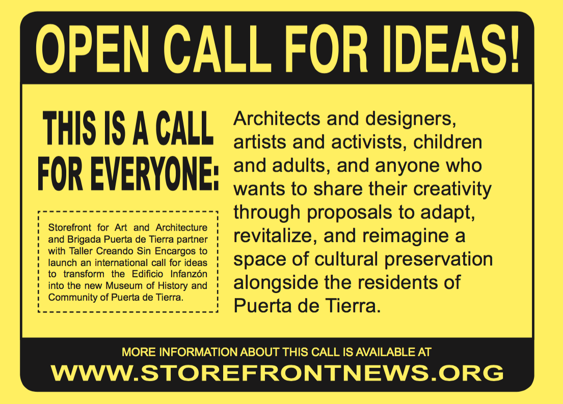 Storefront for Art and Architecture   Programming: Competitions